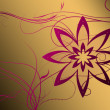 Beautiful illustrated flower background design with gradient — Stock fotografie