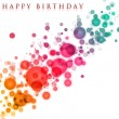 Wonderful birthday background design with bubbles — Stock Photo