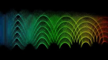 Futuristic video animation with moving object and lights, loop HD 1080p — Stock Video