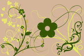 Beautiful illustrated flower background design — Stock Photo