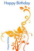 иллюстрированная открытка с цветами, градиент и пространства для вашего текста — Стоковое фото