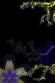 Piękny ilustrowany kwiat projekt tło z miejsca na tekst — Zdjęcie stockowe