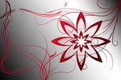 Diseño de fondo hermosa flor ilustrado con gradiente — Foto de Stock