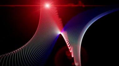 Futurystyczny animacji wideo z ruchu cząstek obiektu i światła, pętla hd 1080p — Wideo stockowe