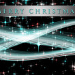 Fantastic Christmas wave design with glowing stars — Stock Photo