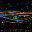 Fantastic Christmas wave design with glowing stars — Foto Stock