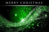 Fantastische weihnachten welle design mit schneeflocken und leuchtenden sternen — Stockfoto