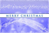 Fantastic Christmas wave design with snowflakes — Stock Photo