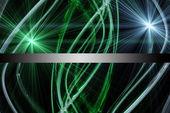 Fütüristik teknoloji eco dalga arka plan tasarımı ile ışık — Stok fotoğraf
