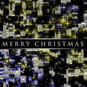 фантастический рождественский дизайн с светящиеся звезды — Стоковое фото