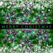 Maravillosa ilustración de diseño fondo de navidad con estrellas y copos de nieve — Foto de Stock