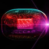 Futuristic technology background design — Stock Photo