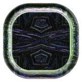Objeto de plano de fundo de vidro ilustrado abstrato — Foto Stock