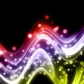 Ola abstracta elegante diseño con burbujas y espacio para su texto — Foto de Stock
