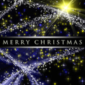 Fantastic Christmas wave design with snowflakes and glowing star — Stock Photo