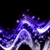 Abstract elegant wave design with bubbles and space for your text — Stock Photo