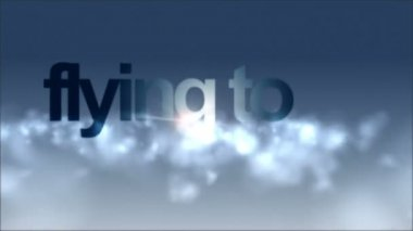 Fantastic video flying through clouds with holiday text, loop HD 1080p — Stock Video