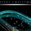 Stock Photo: Fantastic Christmas wave design with glowing stars