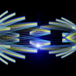 Futuristic technology video animation with moving object and lights, loop HD 1080p — Stock Video