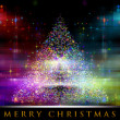 Wonderful Christmas tree background design illustration — Stock Photo