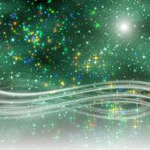 фантастическое рождество волна дизайн с светящиеся звезды — Стоковое фото