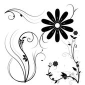 Beautiful illustrated flower background design — Stock Photo