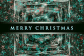 Wonderful Christmas background design illustration with stars — Stock Photo