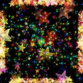 Wonderful Christmas background design illustration with glowing stars — Stock Photo