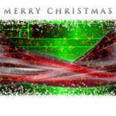 Fantastic Christmas wave design with snowflakes and glowing stars — Stock Photo