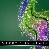 Fantastic Christmas wave design with snowflakes and space for your text — Stock Photo