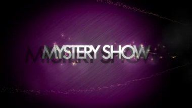 Powerful video animation with text MYSTERY SHOW, loop HD 1080p — Stock Video