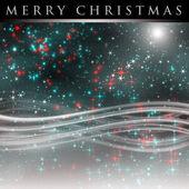 Muhteşem christmas dalga tasarımı ile parlayan yıldızları — Stok fotoğraf