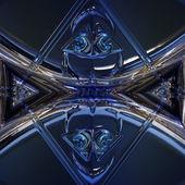 Wunderbar abstrakten illustrierte glas-objekt — Stockfoto