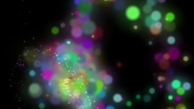 Wonderful video animation with bubbles in motion, loop HD 1080p — Stockvideo