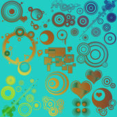 Abstract illustrated retro style background — Stock Photo