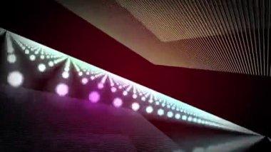 Parçacık şerit nesne hareket ile fantastik video animasyon döngüsü hd 1080p — Stok video