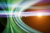 футуристические технологии волна дизайн фона с огнями — Стоковое фото