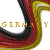 Illustrated wave in german colors for sport events — Stock Photo