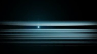Futuristic video animation with moving light stripe object, loop HD 1080p — Stock Video