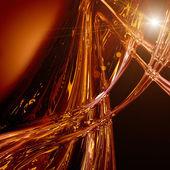 Fütüristik teknoloji dalga arka plan tasarımı ile ışık — Stok fotoğraf