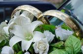 Carros para casamento — Foto Stock