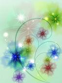 Translucent flowers — Stock Vector