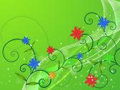 Translucent flowers — Vettoriale Stock