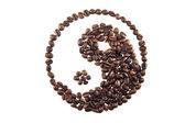 Yin-yang kahve — Stok fotoğraf