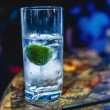 Stock Photo: Fizzy water with lime