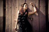 Портрет девушки на улице — Stok fotoğraf