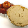 Постер, плакат: Peach Pie and Fresh Peaches