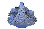 Blue Ceramic Easter Egg Arrangement — Stock Photo