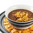 Homemade Chili Con Carne With Cheese Crackers — Stock Photo
