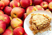 Grandma's Apple Pie & Fresh Apples — Stock Photo